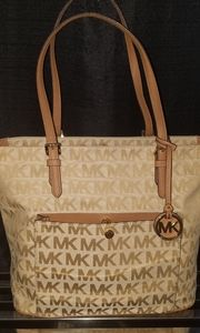 Mk Snap Pocket Zip Top Tote